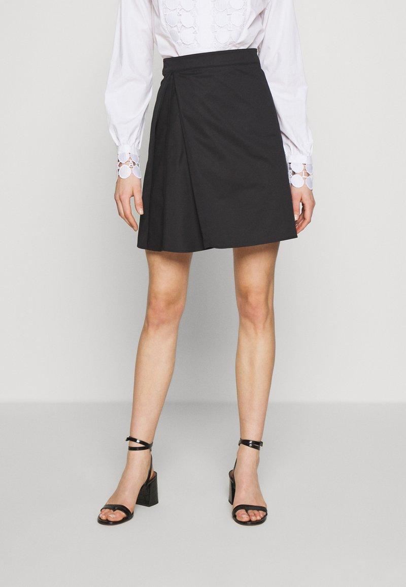 MAX&Co. - DISCORSO - A-line skirt - black