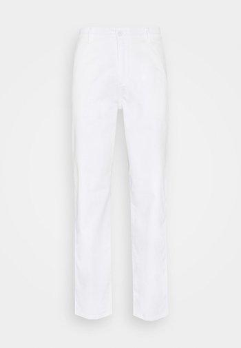 ALPHA ICON TAPERED - Pantaloni - paper white