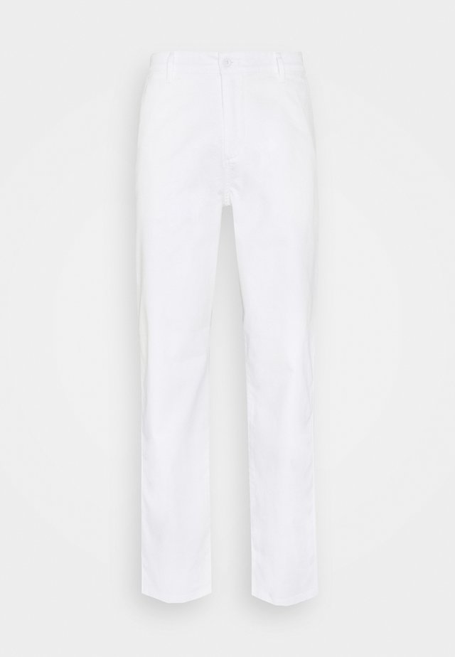 ALPHA ICON TAPERED - Chino kalhoty - paper white
