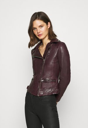 Leather jacket - plum