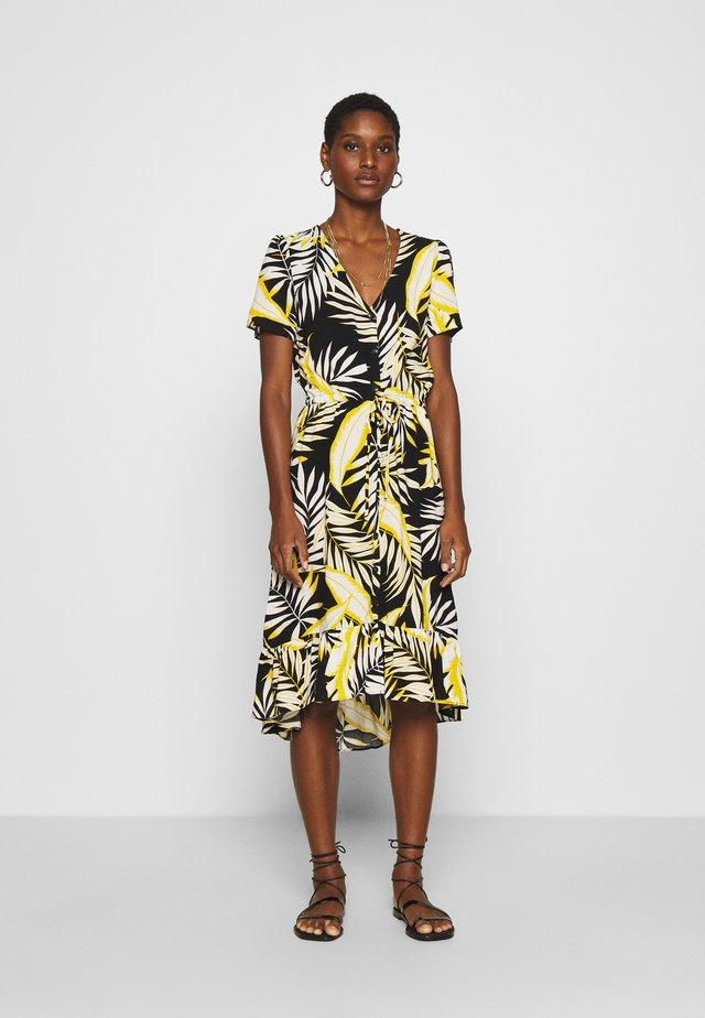 DRAWSTRING HIGH LOW DRESS - Day dress - yellow