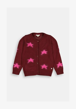 Cardigan - plum red