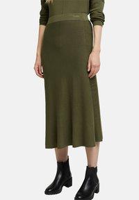 Esprit Collection - A-line skirt - khaki green - 5