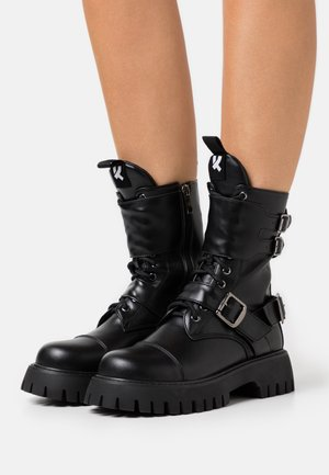 VEGAN ETERNAL - Cowboy/biker ankle boot - black