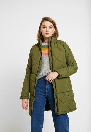 Płaszcz wełniany /Płaszcz klasyczny - winter moss
