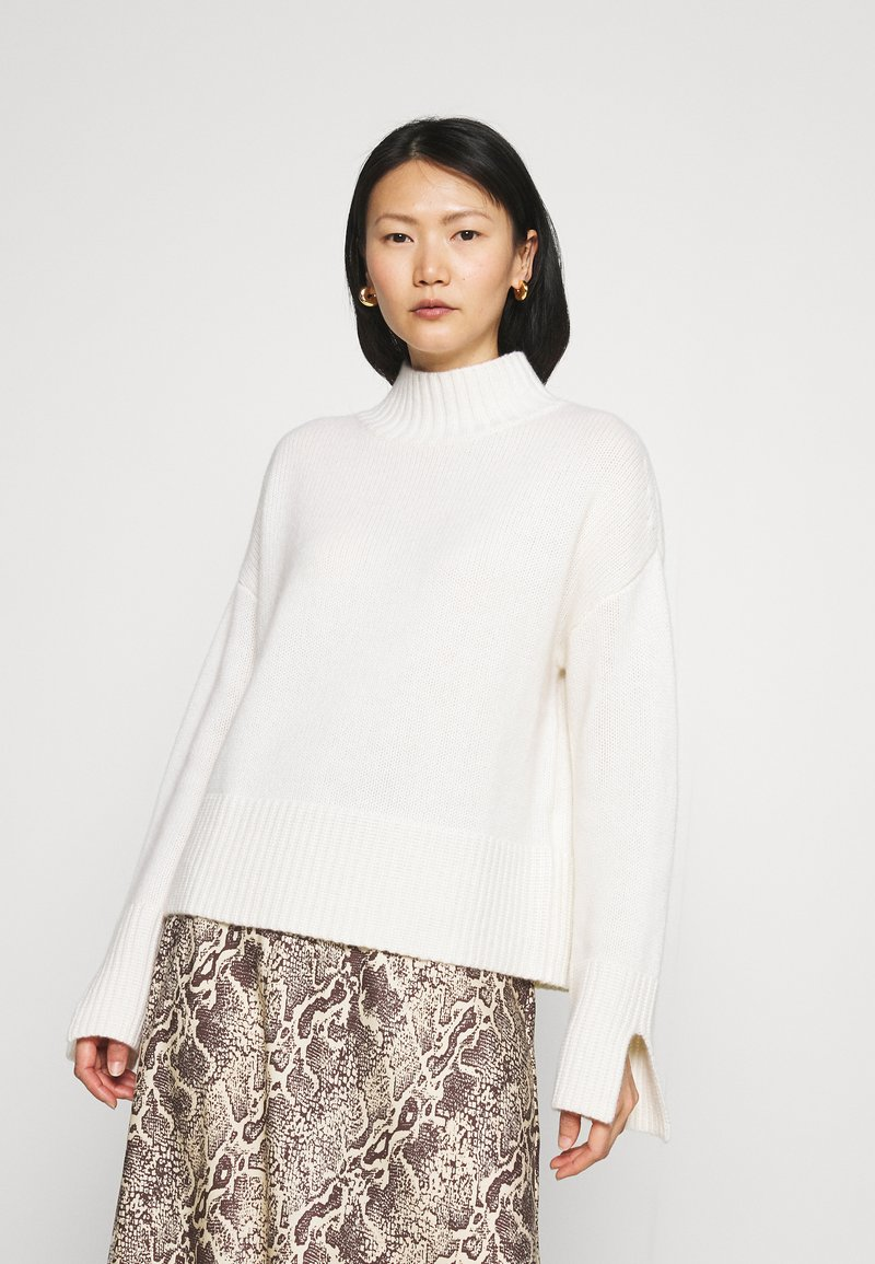 FTC Cashmere - MOCKNECK - Jumper - pristine white