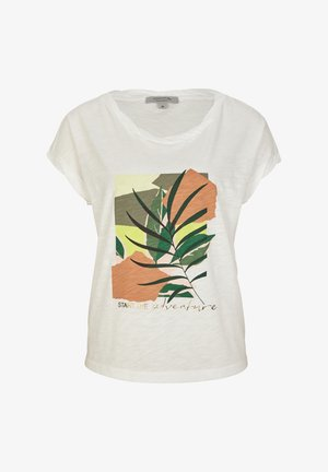 T-shirt con stampa - offwhite placed print