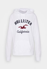 Hollister Co. - TERRY TECH CORE - Jersey con capucha - white - 5