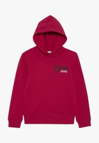 Calvin Klein Jeans - SMALL STAMP LOGO HOODIE - Jersey con capucha - pink - 0