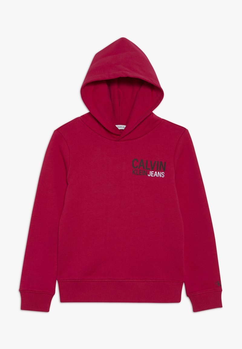 Calvin Klein Jeans - SMALL STAMP LOGO HOODIE - Jersey con capucha - pink
