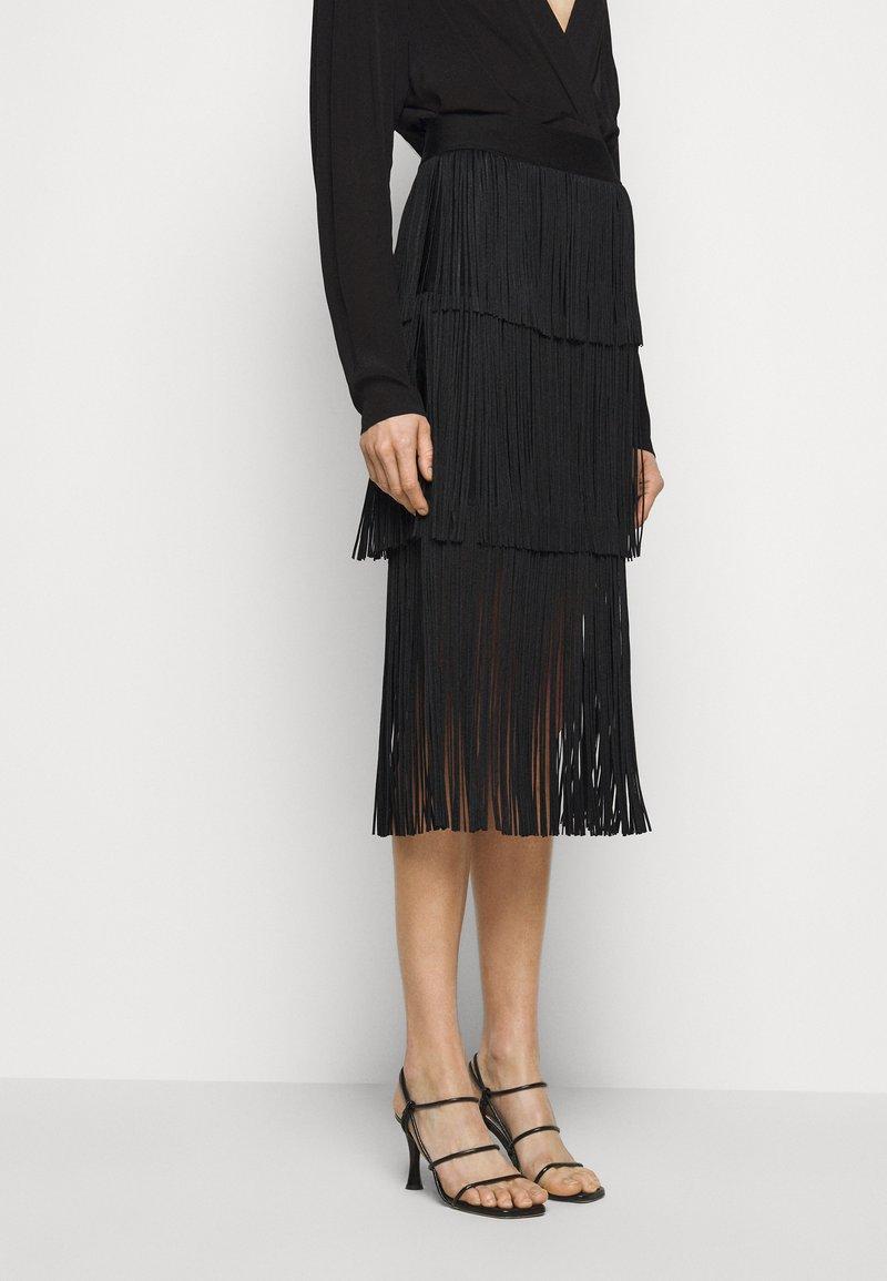 Hervé Léger - Pencil skirt - black