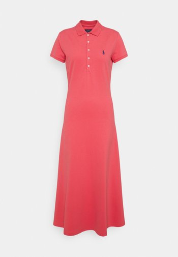 SHORT SLEEVE DAY DRESS - Maxi dress - pale red