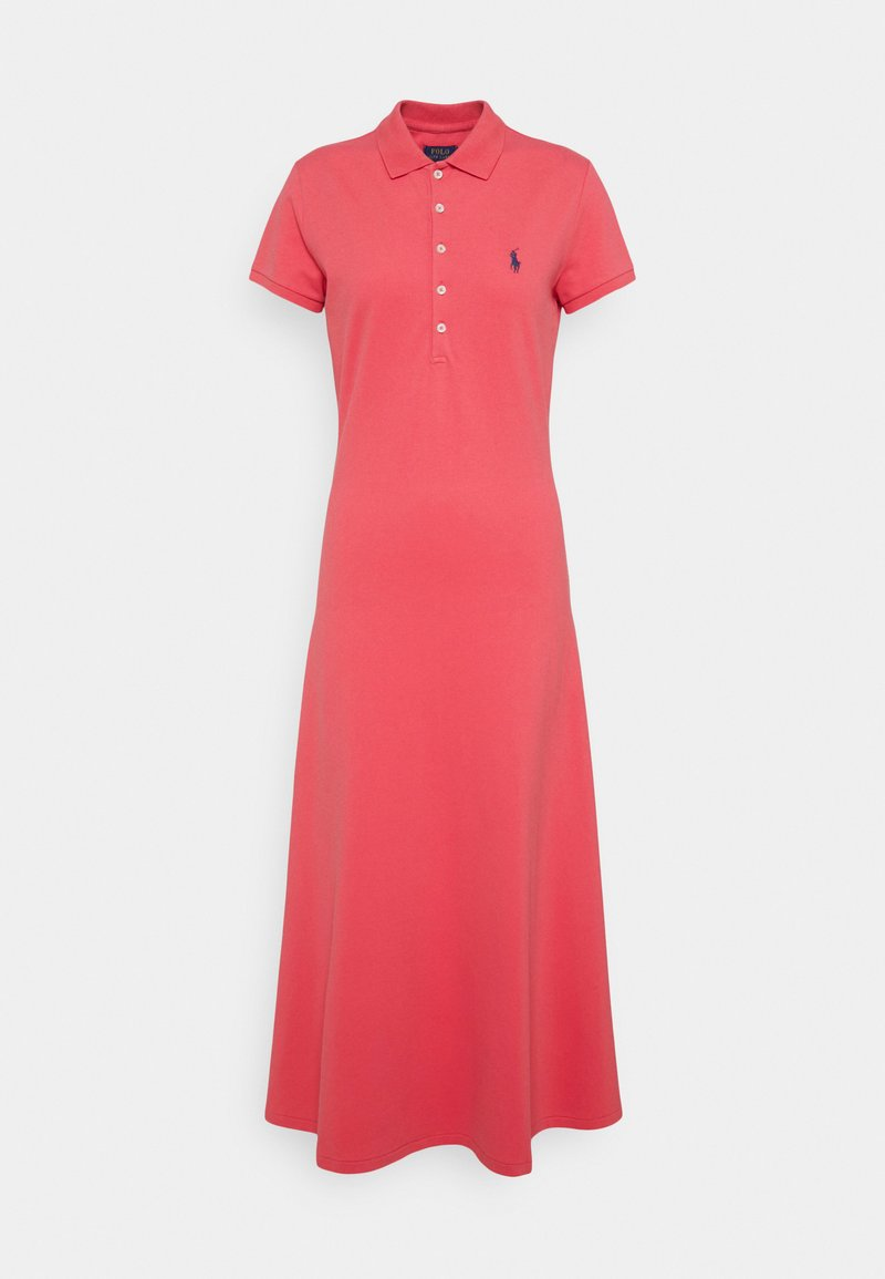 Polo Ralph Lauren - SHORT SLEEVE DAY DRESS - Maxi dress - pale red