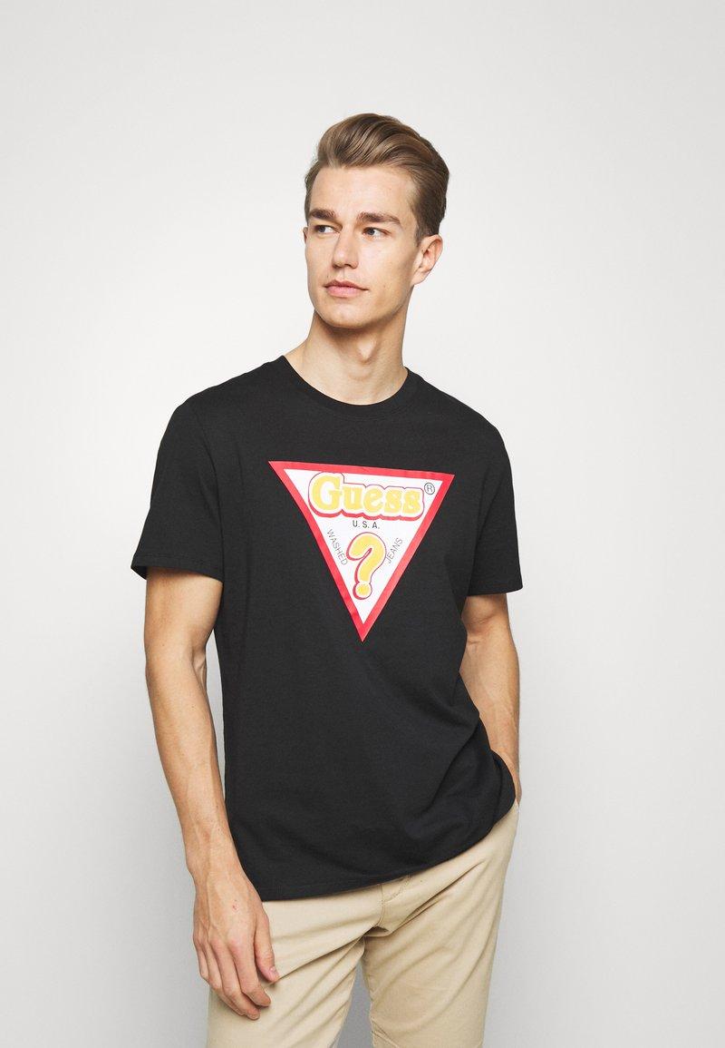 Guess - STICKY - Print T-shirt - jet black