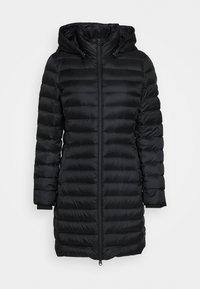 COATED ZIP LIGHT COAT - Down coat - black