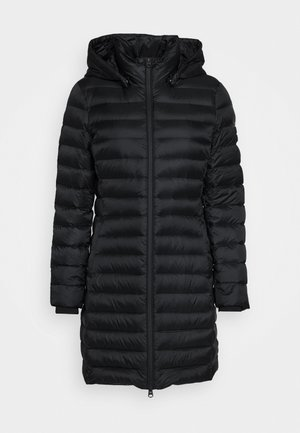 COATED ZIP LIGHT COAT - Down coat - black