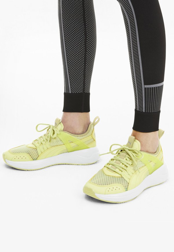 NUAGE RUN CAGE SUMMER - Sports shoes - sunny lime