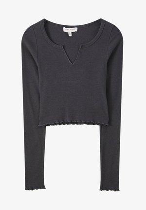 MIT SCHLITZ - Long sleeved top - black