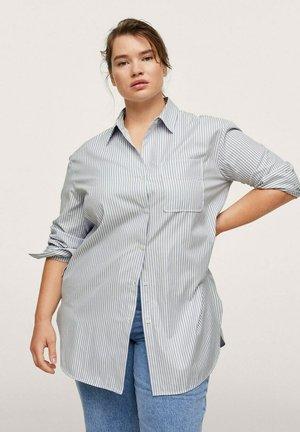 OXFORD - Button-down blouse - azul