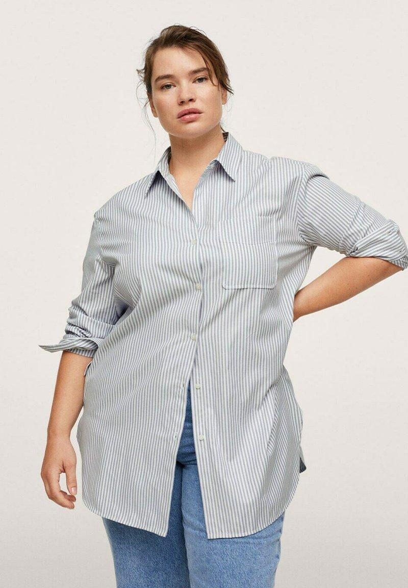 Mango - OXFORD - Button-down blouse - azul