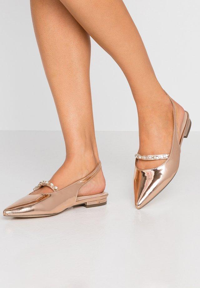 Slingback ballet pumps - rose gold