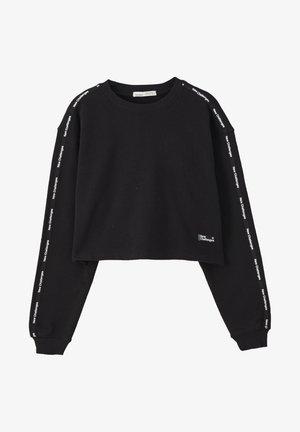 Sweatshirt - mottled black