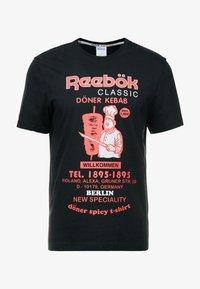 Reebok Classic - INTERNATIONAL DONER TEE - Print T-shirt - black - 3