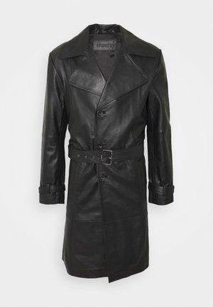 CHRISTIAN LEATHER COAT - Veste en cuir - black