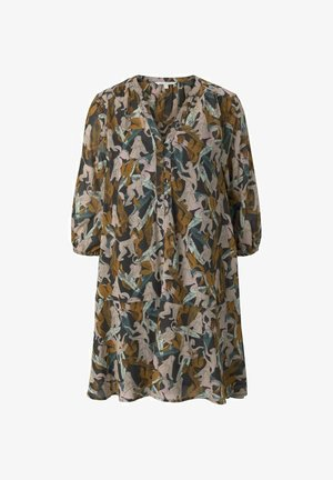 Day dress - abstract monkey print