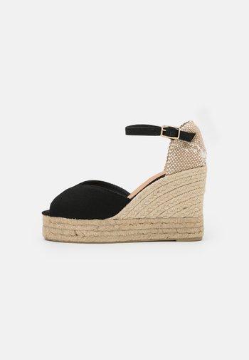 BIANCA - Platform sandals - black