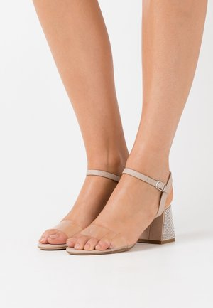 PERSPEX BLING MIX - Sandalias - oatmeal