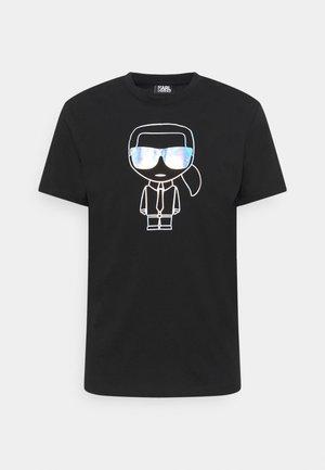 CREWNECK - T-shirt imprimé - black