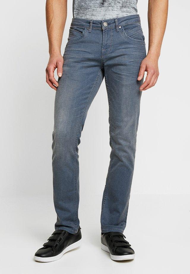 HENLOW - Džíny Straight Fit - grey/blue