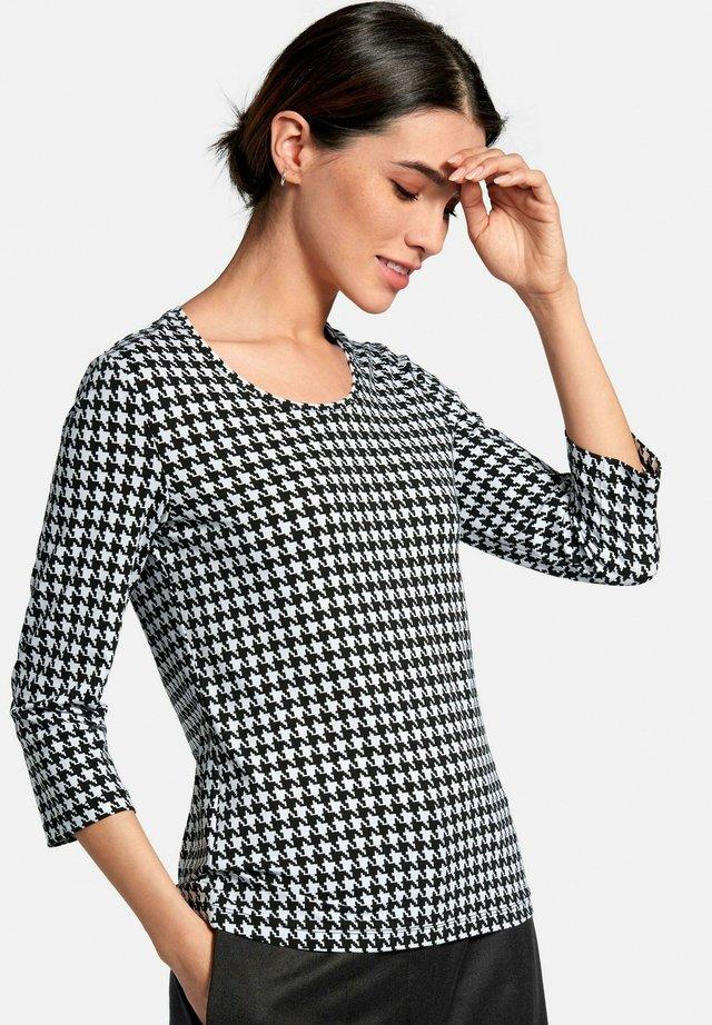 RUNDHALS-SHIRT RUNDHALS-SHIRT - Long sleeved top - schwarz/weiß
