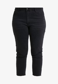 ONLY Carmakoma - CARMILY - Džíny Straight Fit - black denim - 4