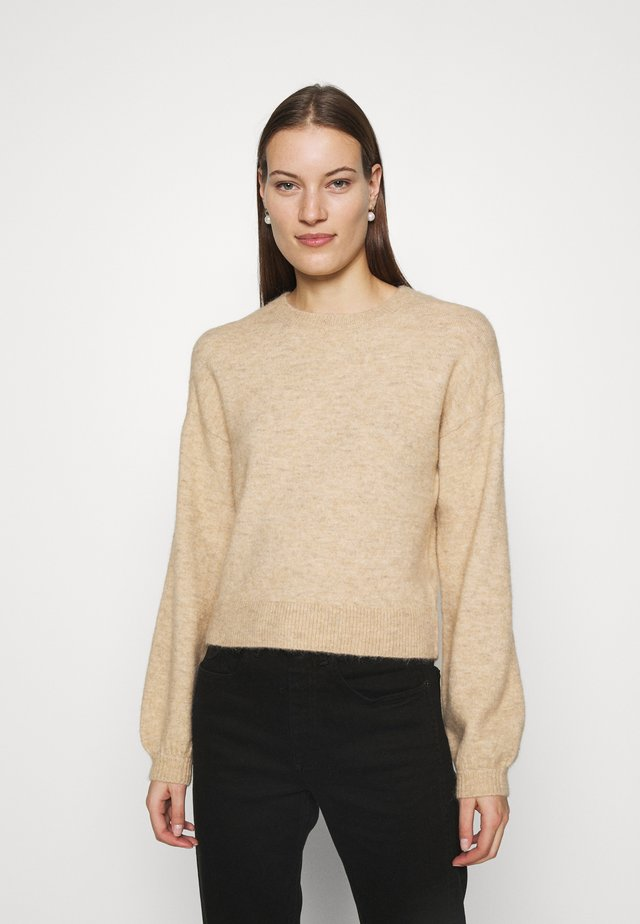 JESSICA O NECK - Jumper - white pepper