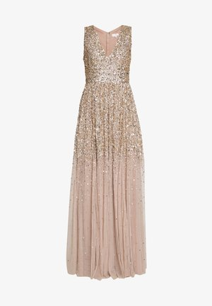 EMBELLISHED NECK MAXI DRESS - Gallakjole - gold