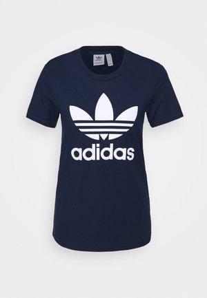 TREFOIL TEE - T-Shirt print - collegiate navy/white