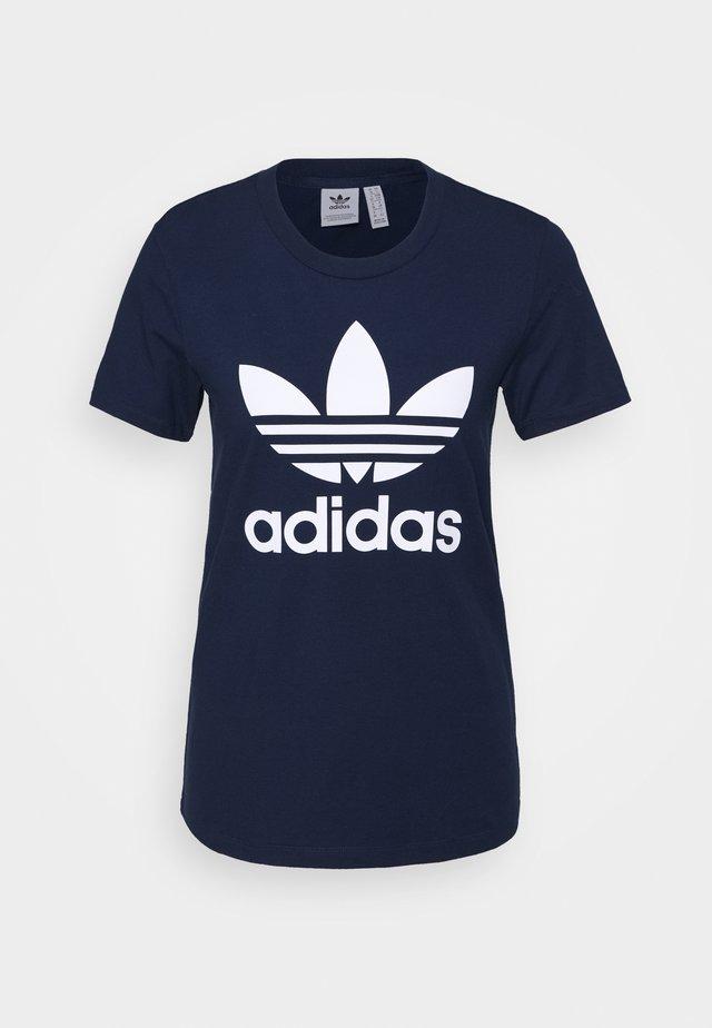 TREFOIL TEE - T-shirt con stampa - collegiate navy/white
