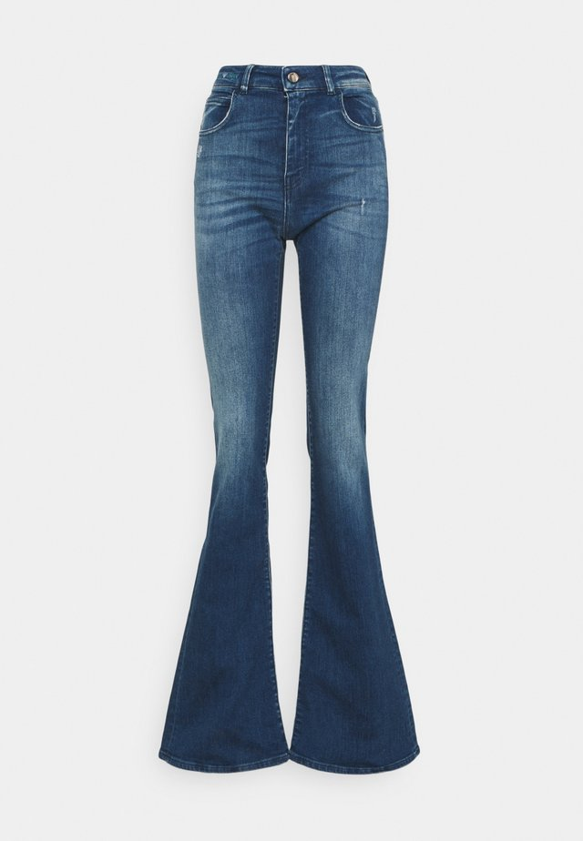 Jeans a zampa - blue denim