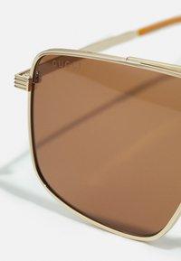 Gucci - UNISEX - Sunglasses - gold-coloured/gold-coloured/brown - 4