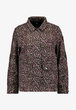 BERYL RESTORED FIELD - Summer jacket - khaki/maroon