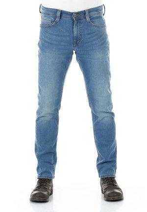 REAL X OREGON - Slim fit jeans - medium blue denim