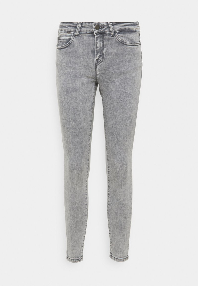 Noisy May Petite - NMLUCY SKINNY JEANS - Skinny džíny - light grey denim
