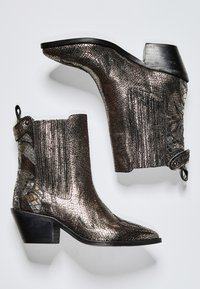 Pepe Jeans - WESTERN W PALM GLAM - Cowboy/biker ankle boot - chrom - 1