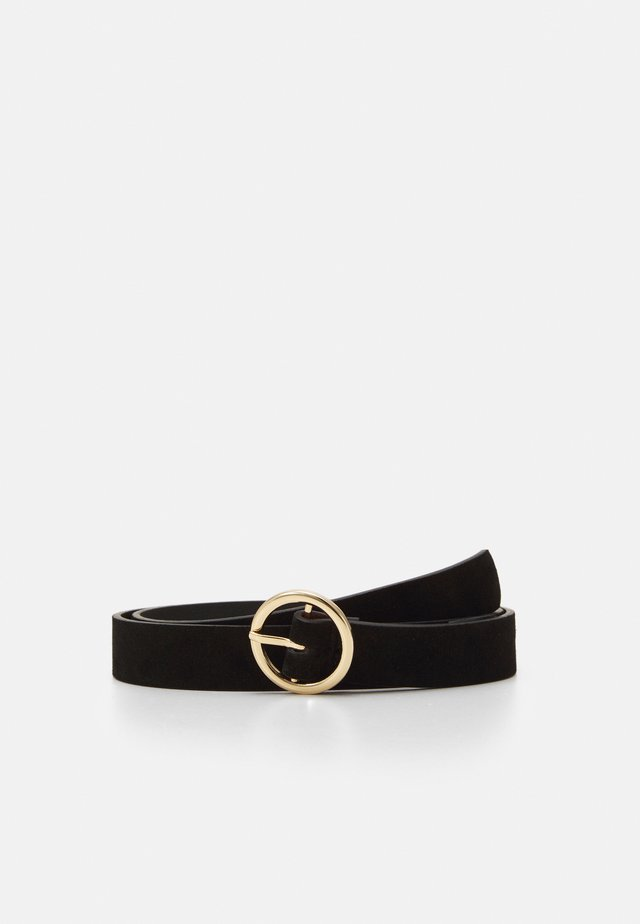 PCBONNA JEANS BELT - Pasek - black/gold-coloured