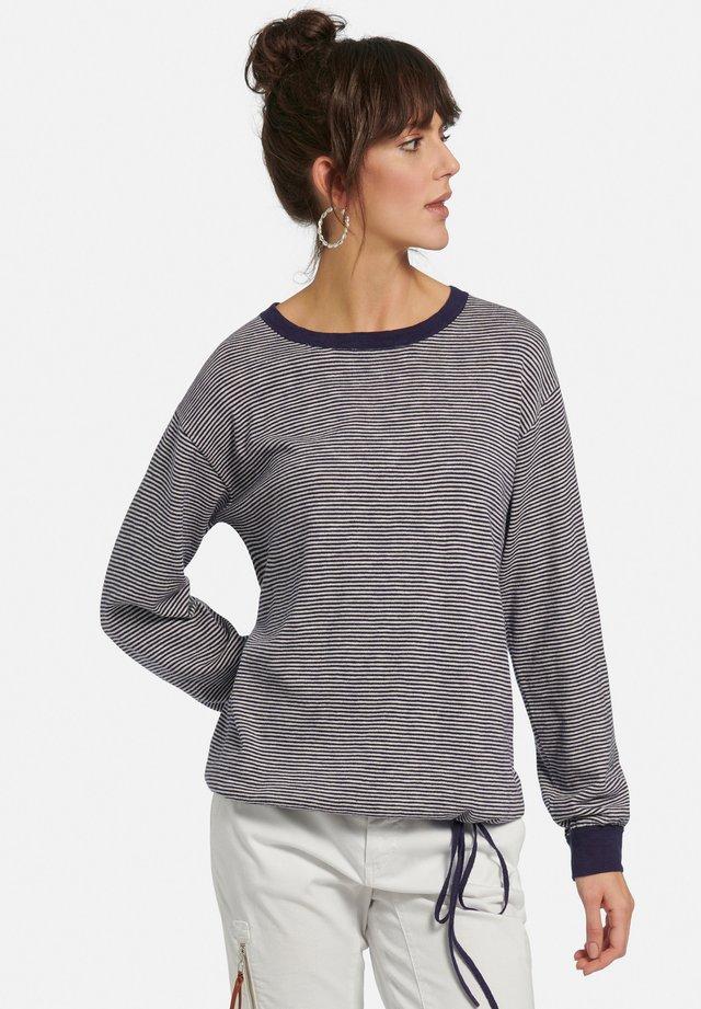 Pullover - blau/ecru