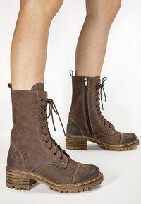 Inuovo - Platform ankle boots - nb brown ubr - 0