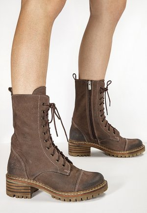 Platform ankle boots - nb brown ubr