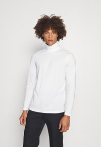 Jack & Jones PREMIUM - JPRBLASTRETCH ROLL NECK TEE - Långärmad tröja - white - 0
